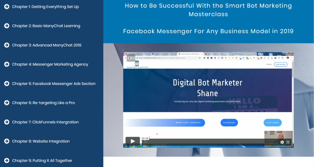 Smart Bot Marketers ManyChat Course