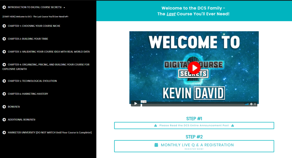 Kevin David Digital Course Secrets