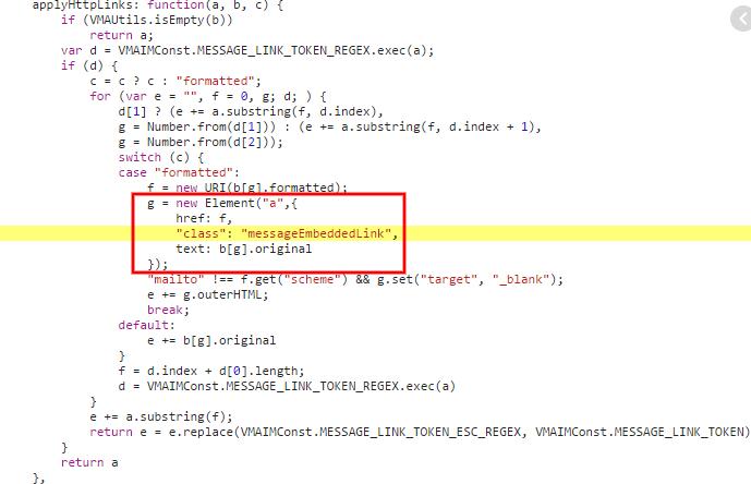 Messenger URL Hack Code